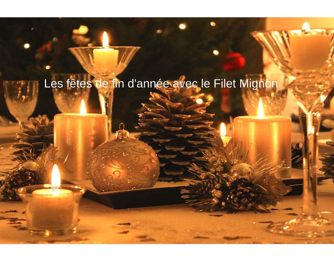 Décoration d'une table de fête de fin d'année